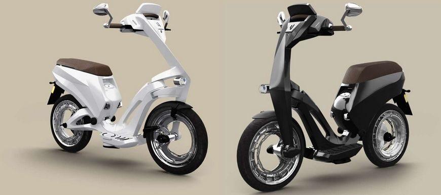 ujet un scooter lectrique pliable et connect chargeur batteries. Black Bedroom Furniture Sets. Home Design Ideas